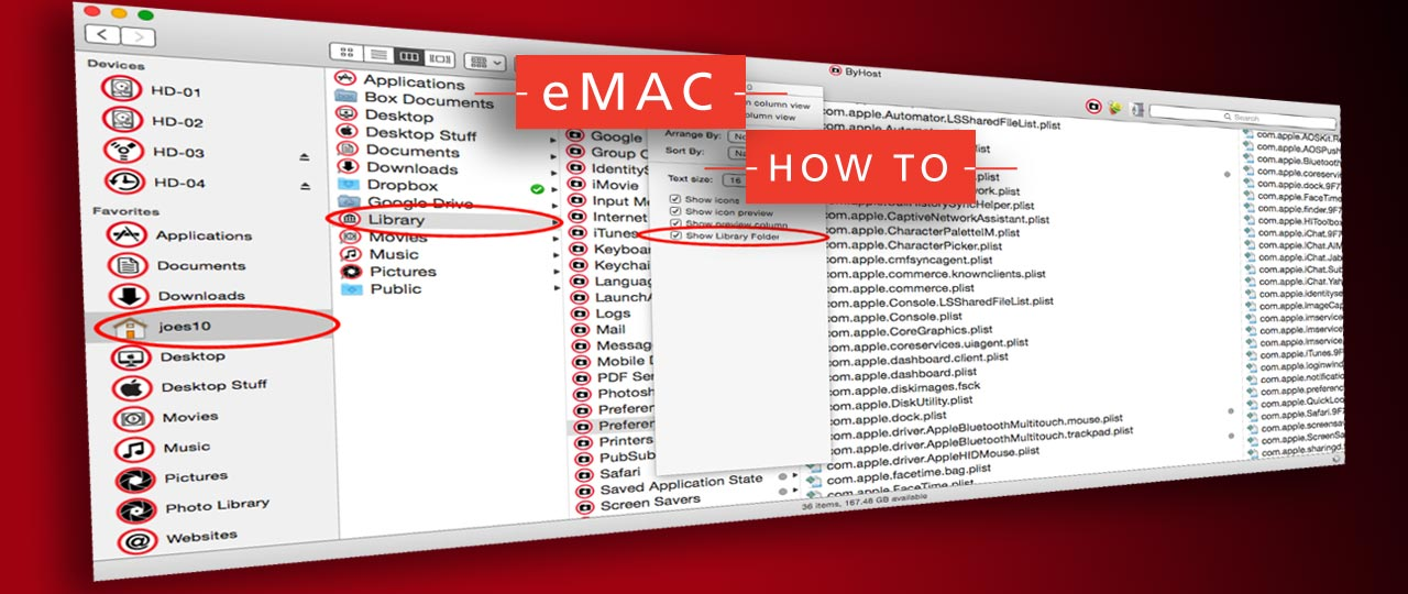 how to open library folder on mac