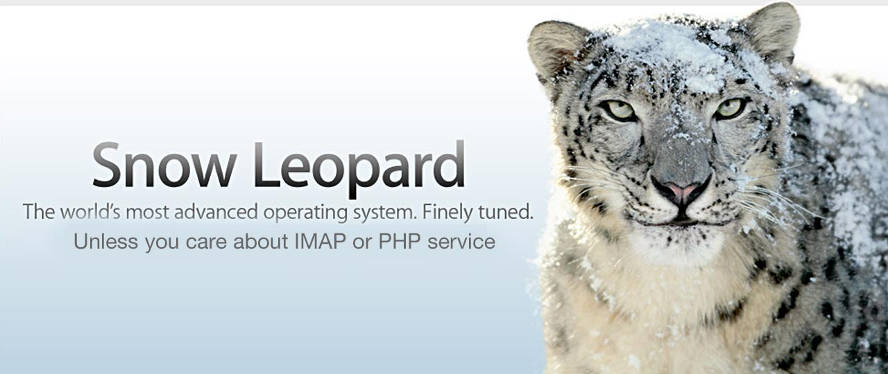 Snow Leopard - Mail.app - PHP ... Fail! 1