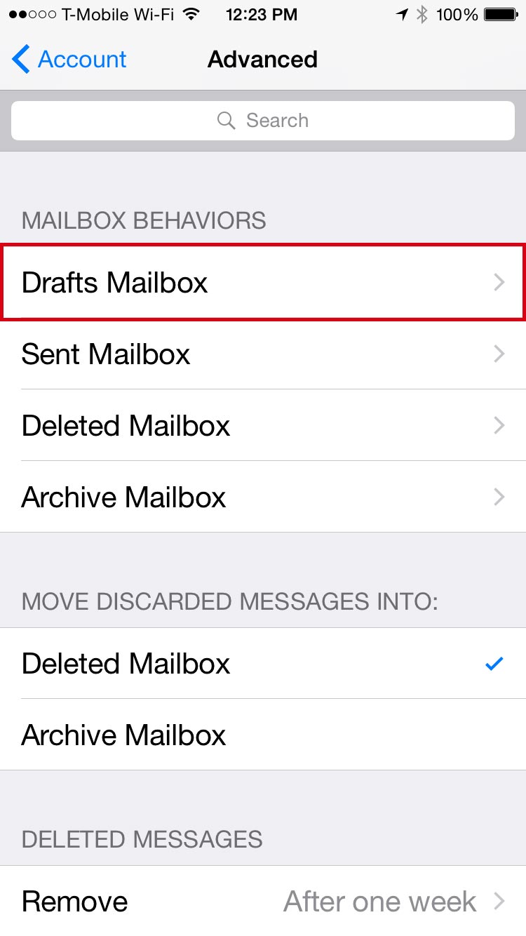 Step-25-Seelct-Drafts-Mailbox