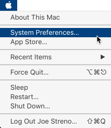 AppleMenu>Preferences