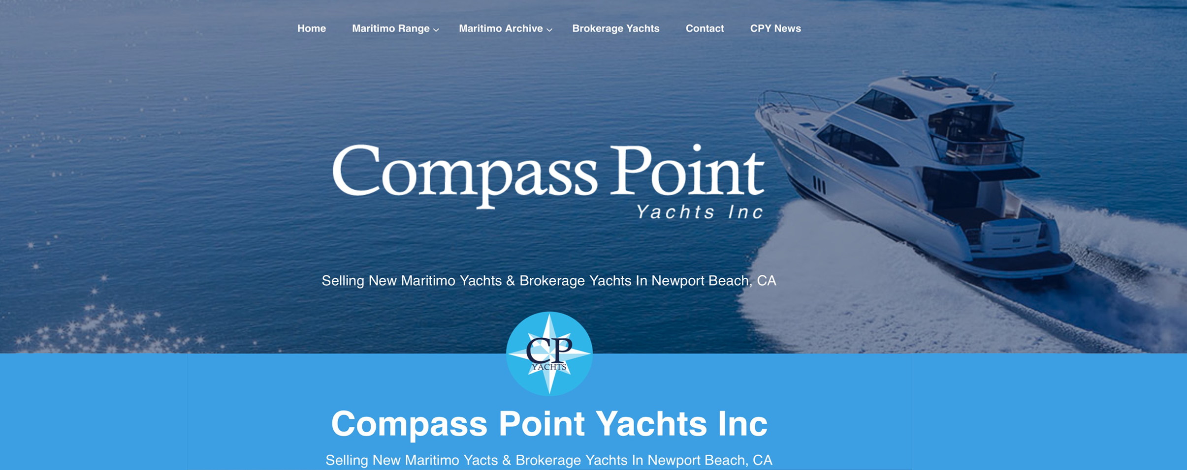 Compass Point Yachts Inc Banner