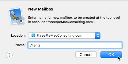 How To: Create a folder in Mail.app 6
