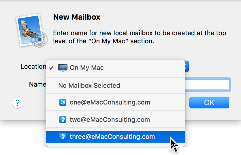 How To: Create a folder in Mail.app 3