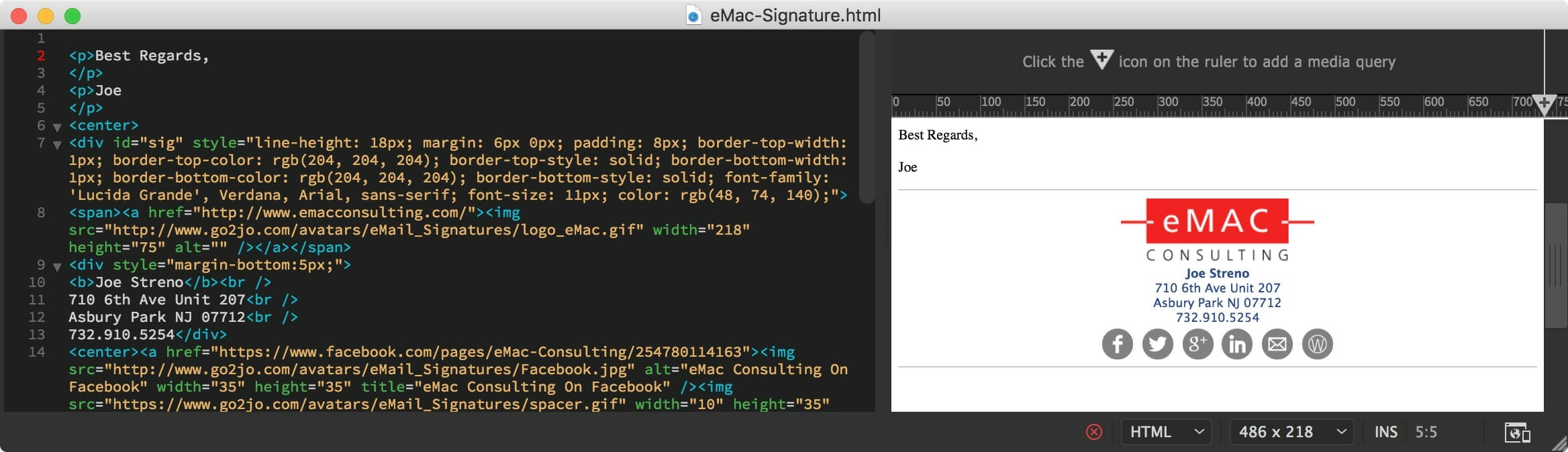 Creating Signatures In Apple Mail 5