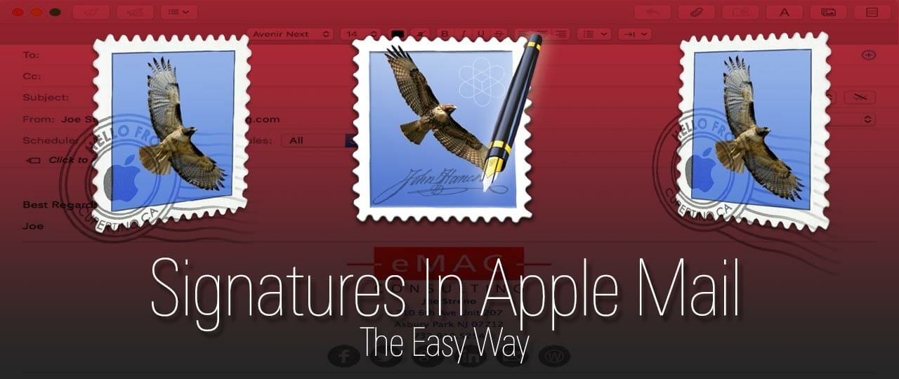 Creating Signatures In Apple Mail 1